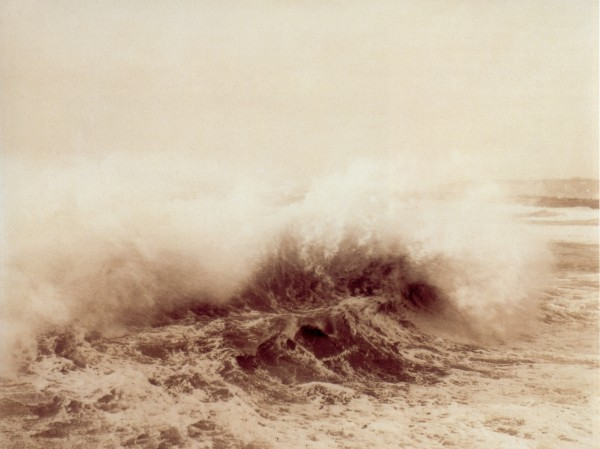 Charles Grassin, Study of a Wave, 1882. Albumen print, 7 1/2 × 10 in. (19.3 x 25.5 cm). Société française de photographie, Paris.
