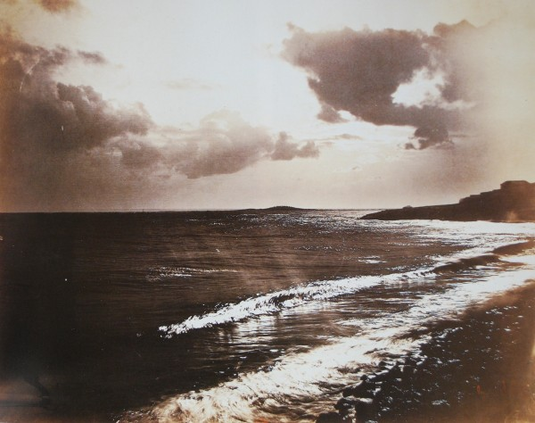 Gustave Le Gray, Large Wave, Mediterranean Sea (Grande lame, Méditerranée), 1857. Albumen print, 12 3/4 x 16 1/4 in. (32.3 x 41.2 cm). Bibliothèque nationale de France, Paris