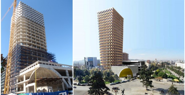 51n4e TID Tower, Tirana, Albania Images ALES Construction