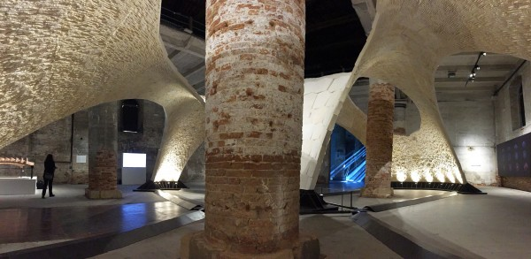 "Block Research Group, ETH Zürich ""Beyond Bending"" Armadillo Vault Venice Architecture Biennale, 2016 Image Tom Gearty"