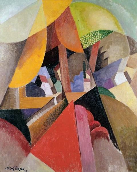 Fig. 2. Albert Gleizes. Paysage avec un Arbre, 1914
