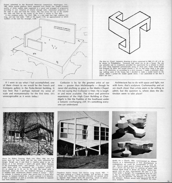 Fig. 7. Talking with Tony Smith, Artforum 1966