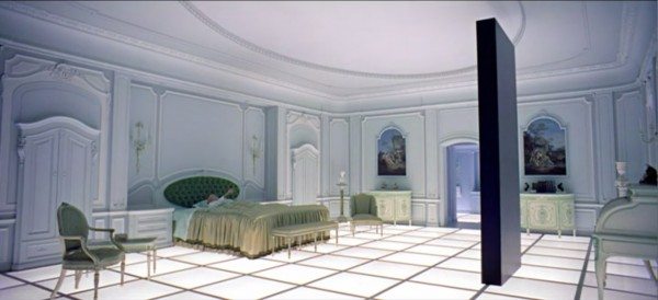 Fig. 5. 2001. A white box gallery as the future of human evolution