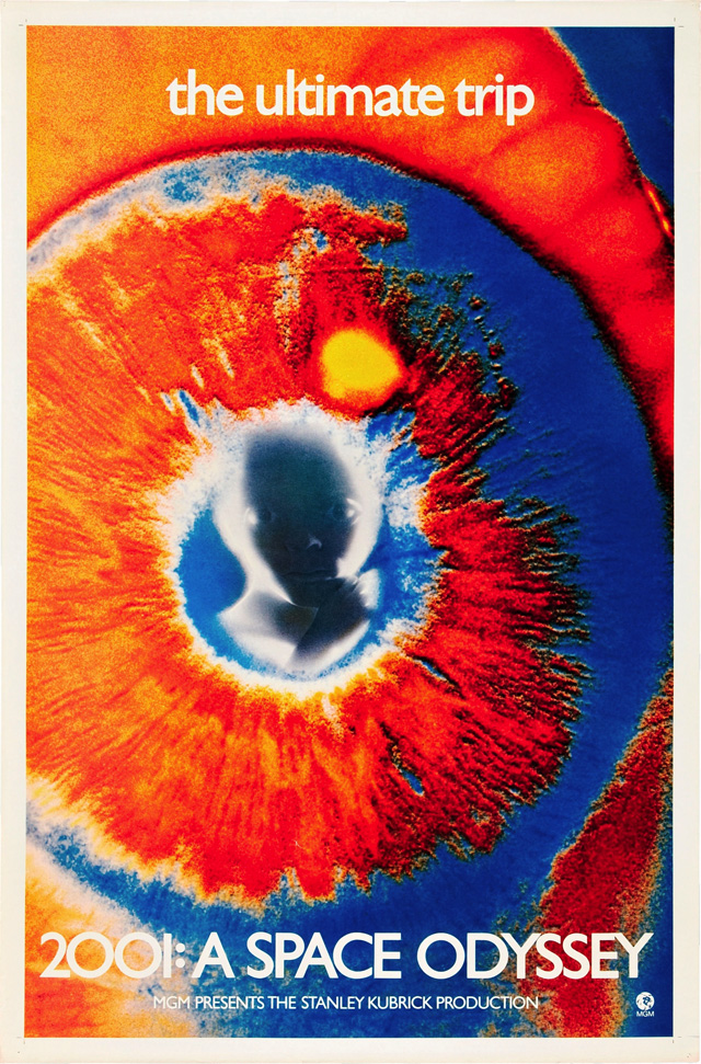 """Fig. 8. Official poster, 1969 rerelease of 2001: A Space Odyssey. """"The ultimate trip"""" or the unfinished NJ Turnpike"""