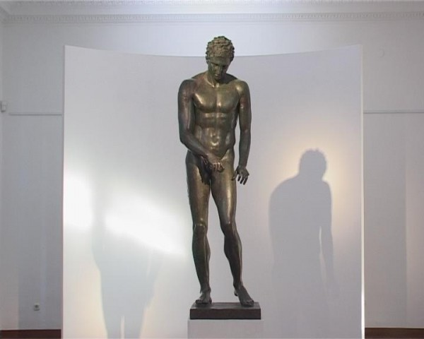 Fig. 2.  Croatian Apoxyomenos (second or first century B.C.; bronze; Museum of Apoxyomenos, Mali Lošinj, Croatia)