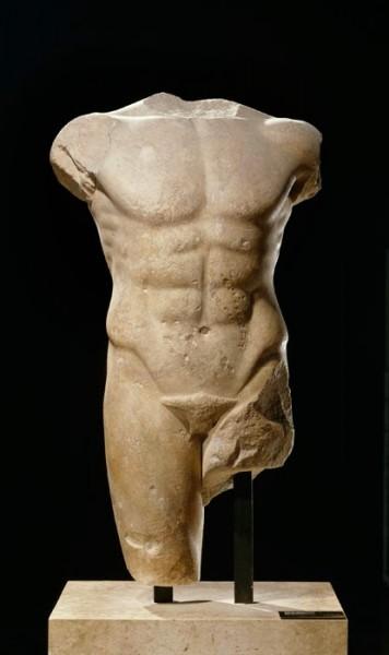 Male Torso (ca. 480-470; marble; Musée du Louvre, Paris)